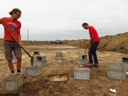 Archeologen aan het werk.
